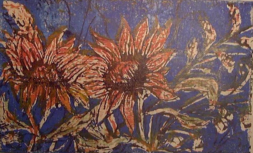 Sunflowers3-15-woodblock